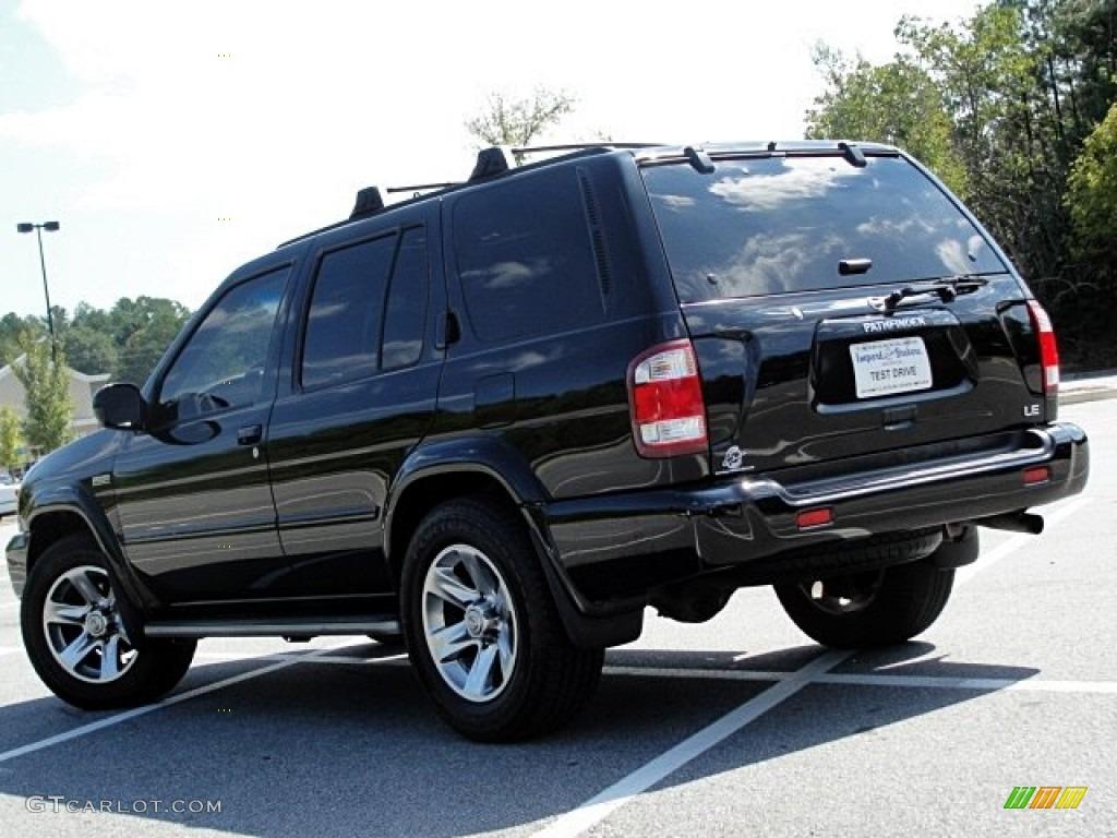 2004 super black nissan pathfinder le platinum 70570146 photo 4 car color for 2004 nissan pathfinder interior