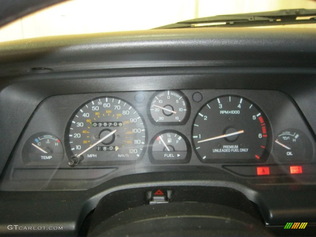 1990 Ford Thunderbird SC Super Coupe Gauges Photo ...