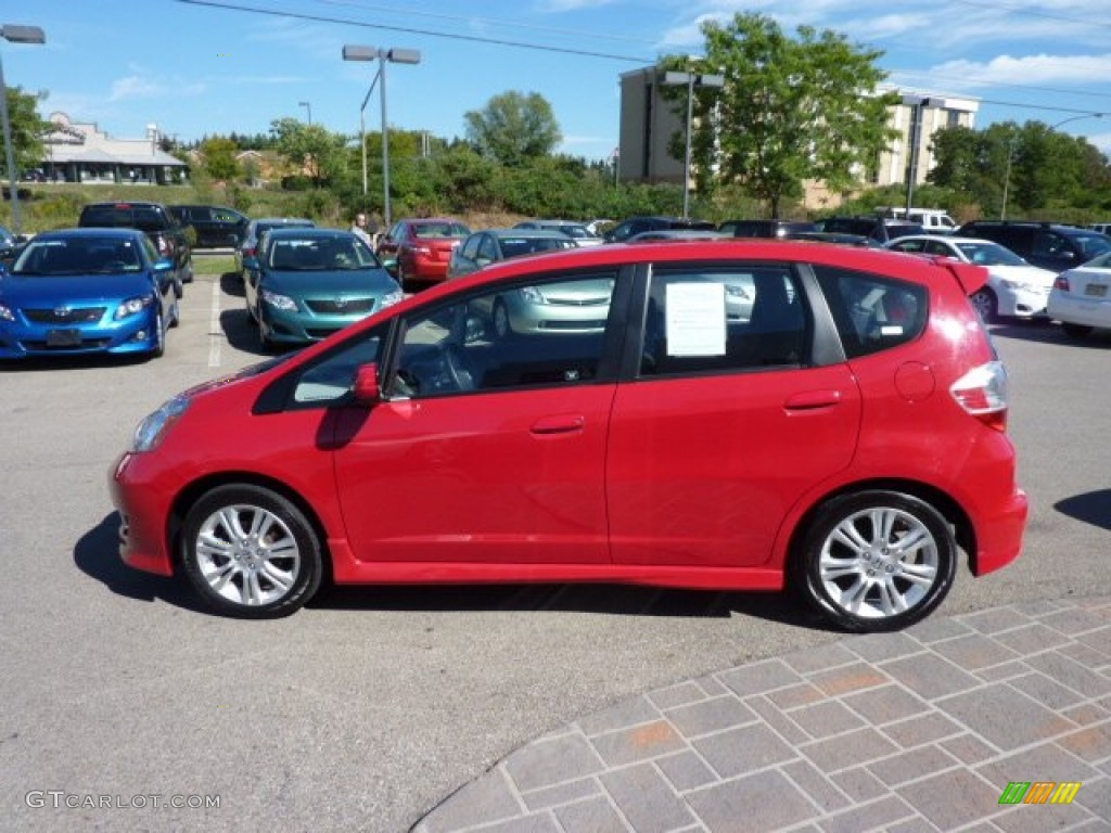 Milano Red 2009 Honda Fit Sport Exterior Photo 70619808