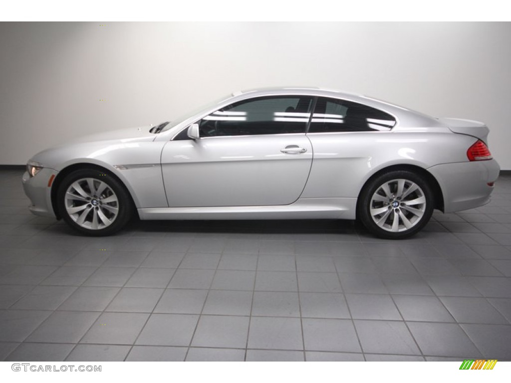 titanium silver metallic 2009 bmw 6 series 650i coupe. Black Bedroom Furniture Sets. Home Design Ideas