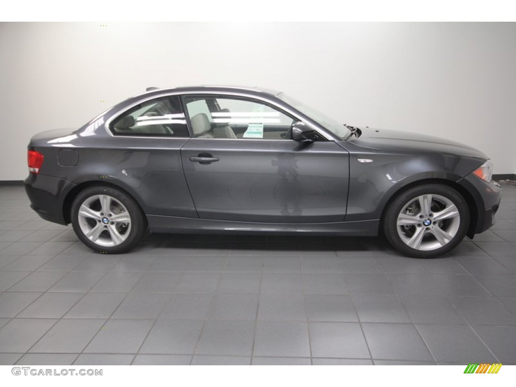 space gray metallic 2013 bmw 1 series 128i coupe exterior photo