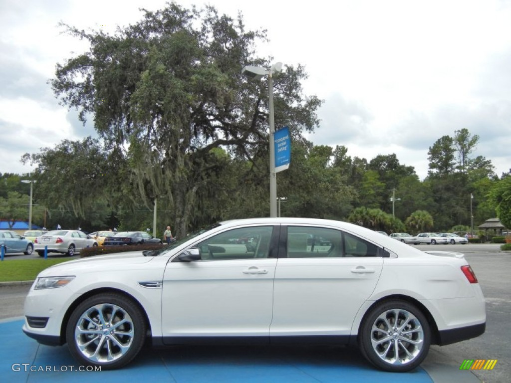 white platinum tri coat 2013 ford taurus limited exterior photo. Cars Review. Best American Auto & Cars Review