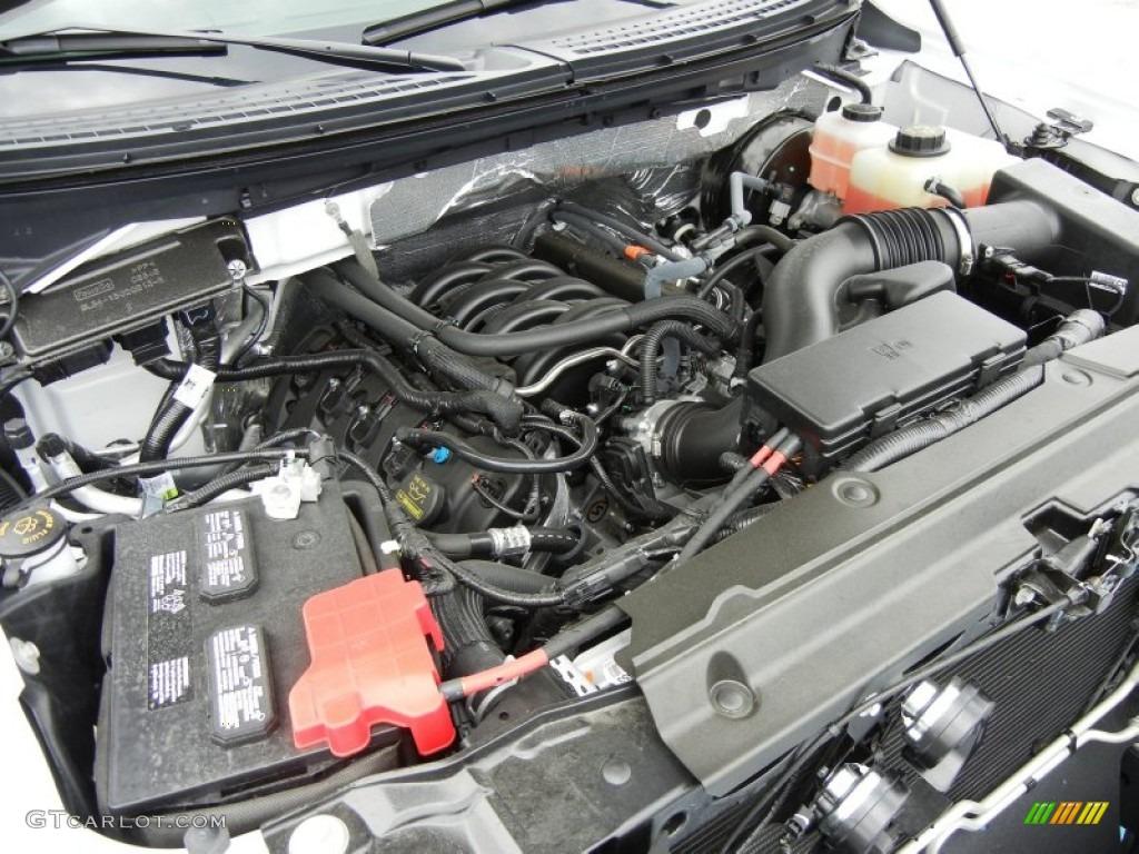 2012 ford f150 stx regular cab 5 0 liter flex fuel dohc 32 for Motor ford f150 v8