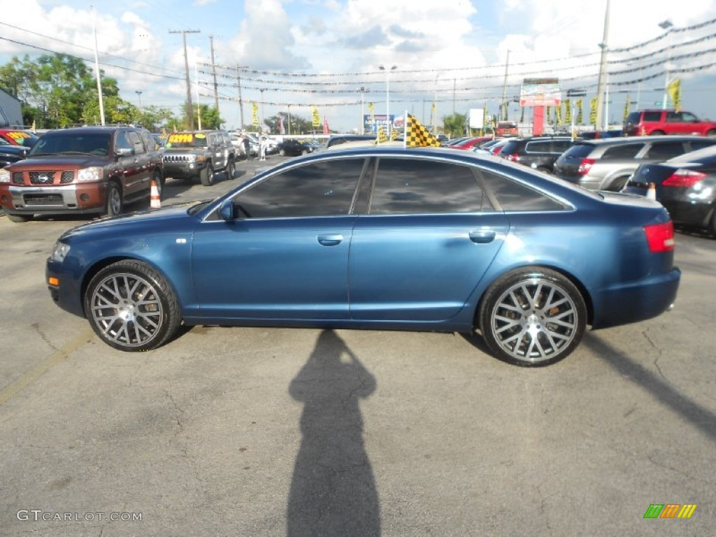 stratos blue pearl effect 2005 audi a6 4 2 quattro sedan exterior photo 70655154. Black Bedroom Furniture Sets. Home Design Ideas