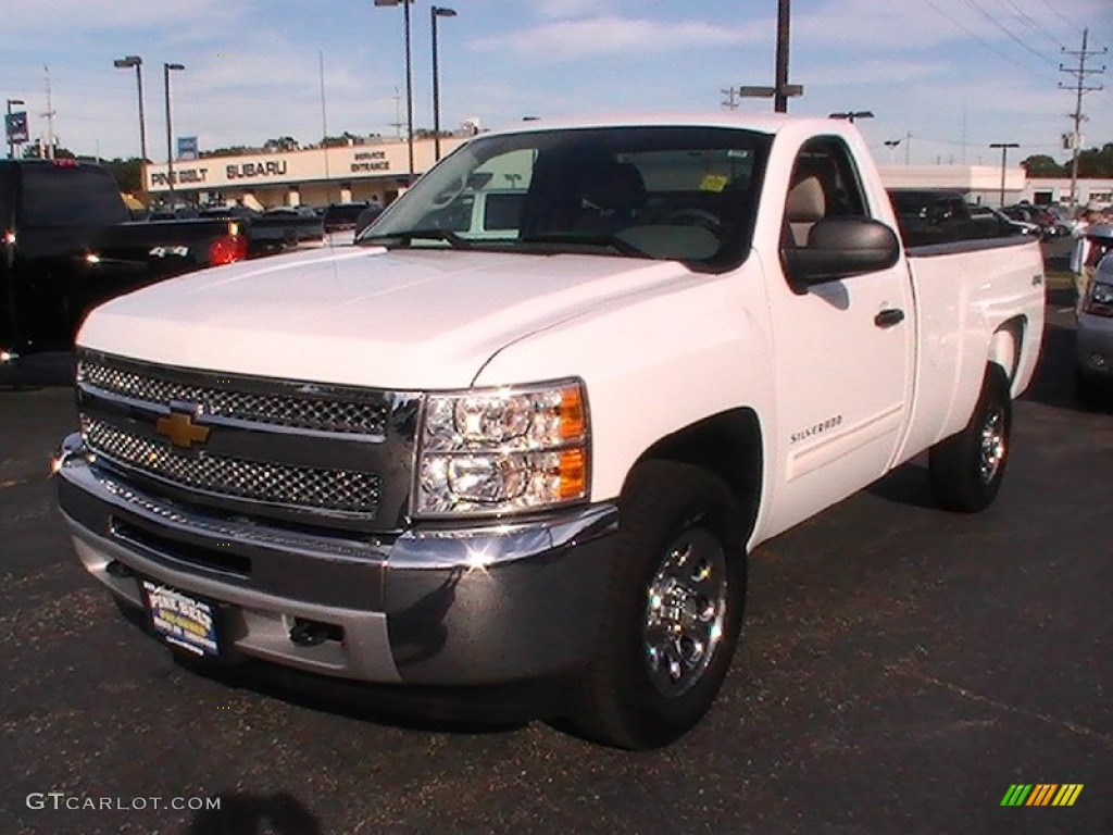 2012 Silverado 1500 LT Regular Cab 4x4 - Summit White / Light Titanium/Dark Titanium photo #1