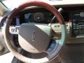 2005 Lincoln Town Car Light Parchment/Medium Dark Parchment Interior Steering Wheel Photo