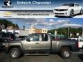 2011 Steel Green Metallic Chevrolet Silverado 1500 LS Extended Cab 4x4  photo #1