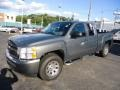 2011 Steel Green Metallic Chevrolet Silverado 1500 LS Extended Cab 4x4  photo #2