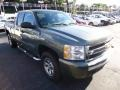 2011 Steel Green Metallic Chevrolet Silverado 1500 LS Extended Cab 4x4  photo #3