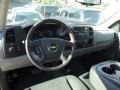 2011 Steel Green Metallic Chevrolet Silverado 1500 LS Extended Cab 4x4  photo #6