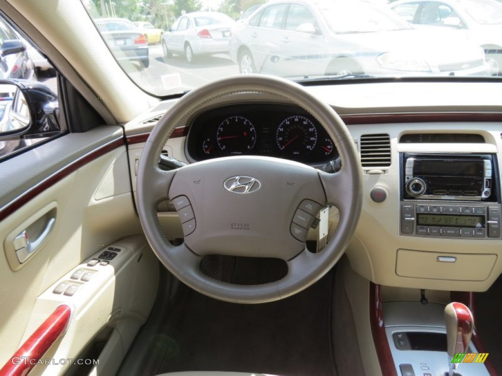 2008 Hyundai Azera Limited Beige Steering Wheel Photo