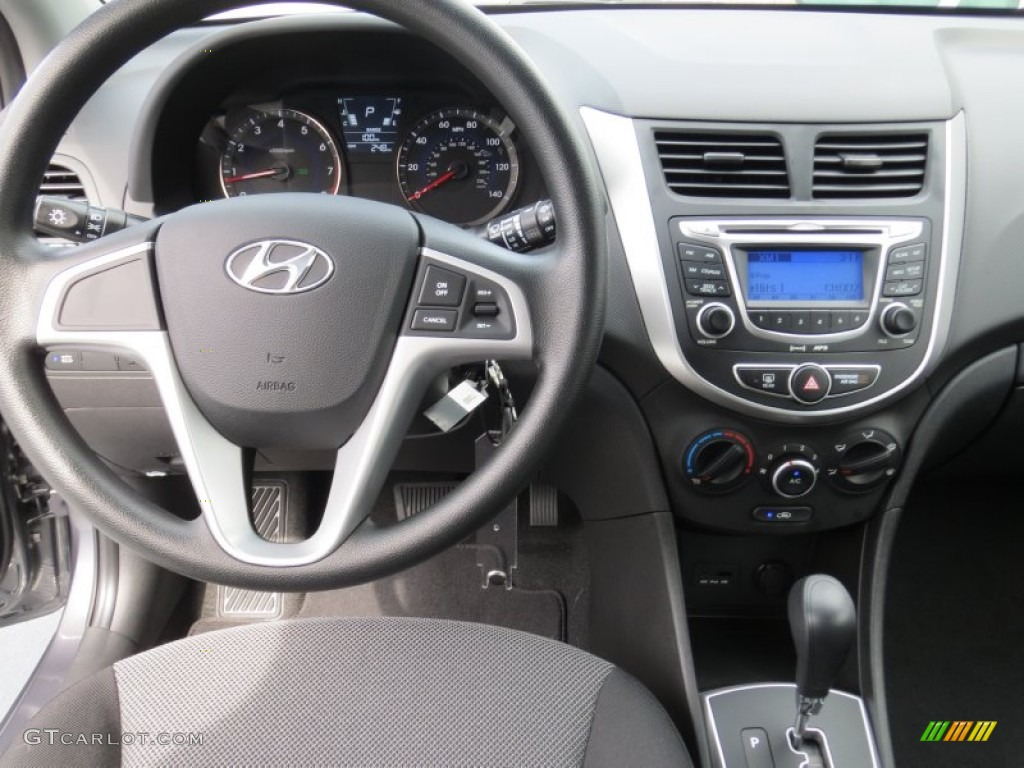 2013 Hyundai Accent Gs 5 Door Black Dashboard Photo