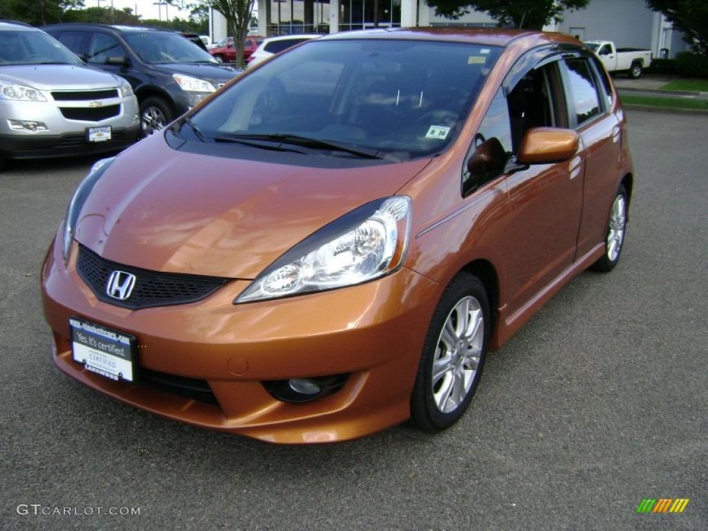 2011 orange revolution metallic honda fit sport 70687136 for Orange honda fit