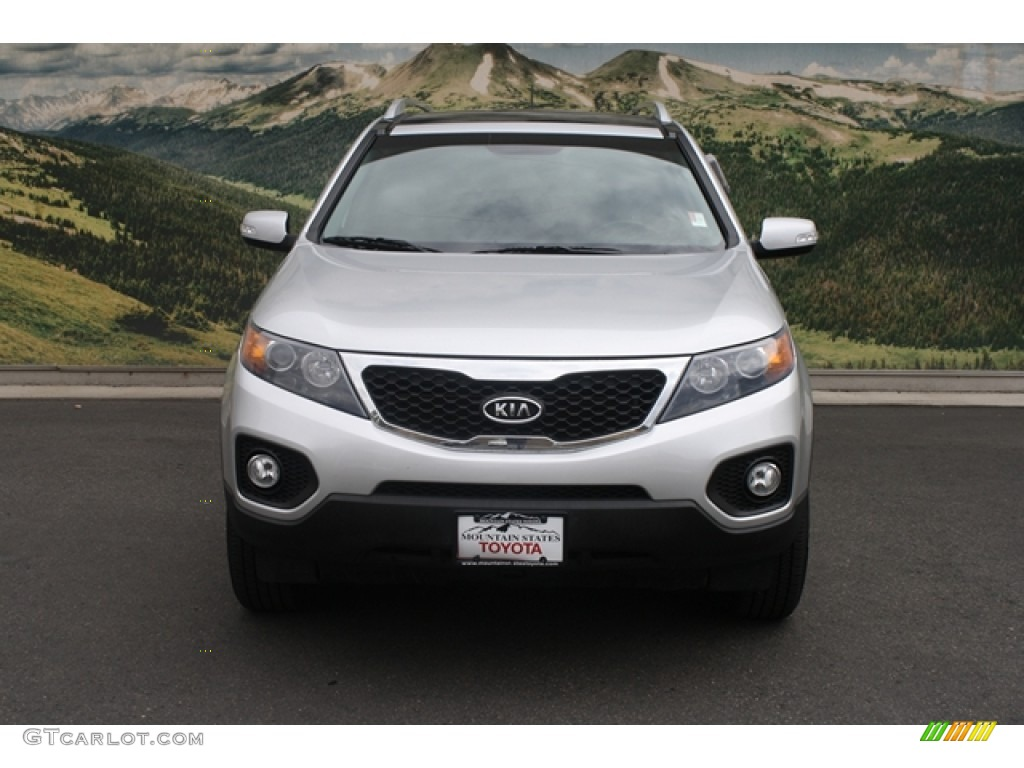 2011 Sorento EX V6 AWD - Bright Silver / Black photo #7
