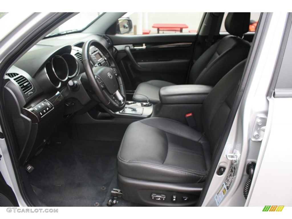 2011 Sorento EX V6 AWD - Bright Silver / Black photo #14