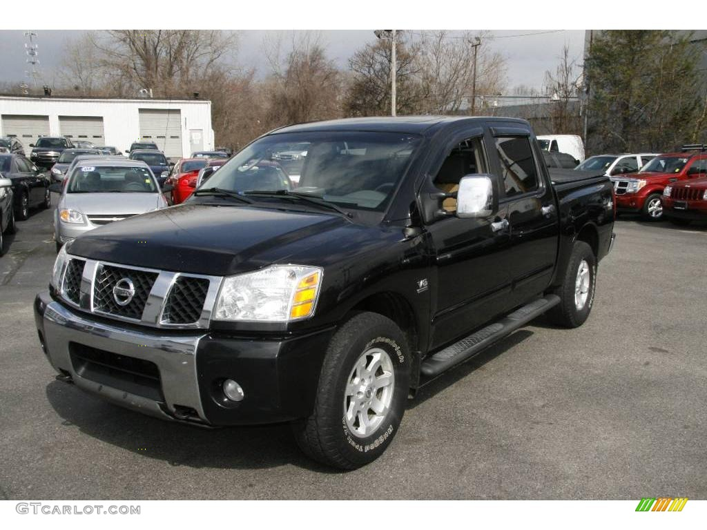 2004 galaxy black nissan titan le crew cab 4x4 7068777 car color galleries. Black Bedroom Furniture Sets. Home Design Ideas