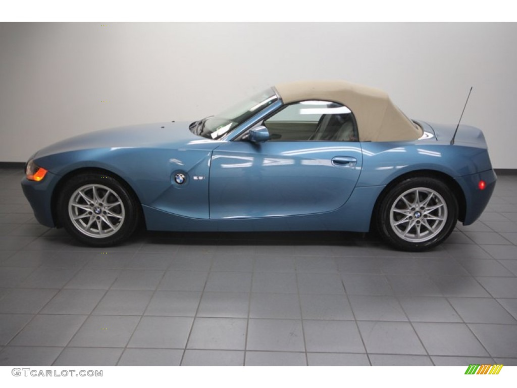 Maldives Blue Metallic 2004 Bmw Z4 2 5i Roadster Exterior Photo 70747890 Gtcarlot Com