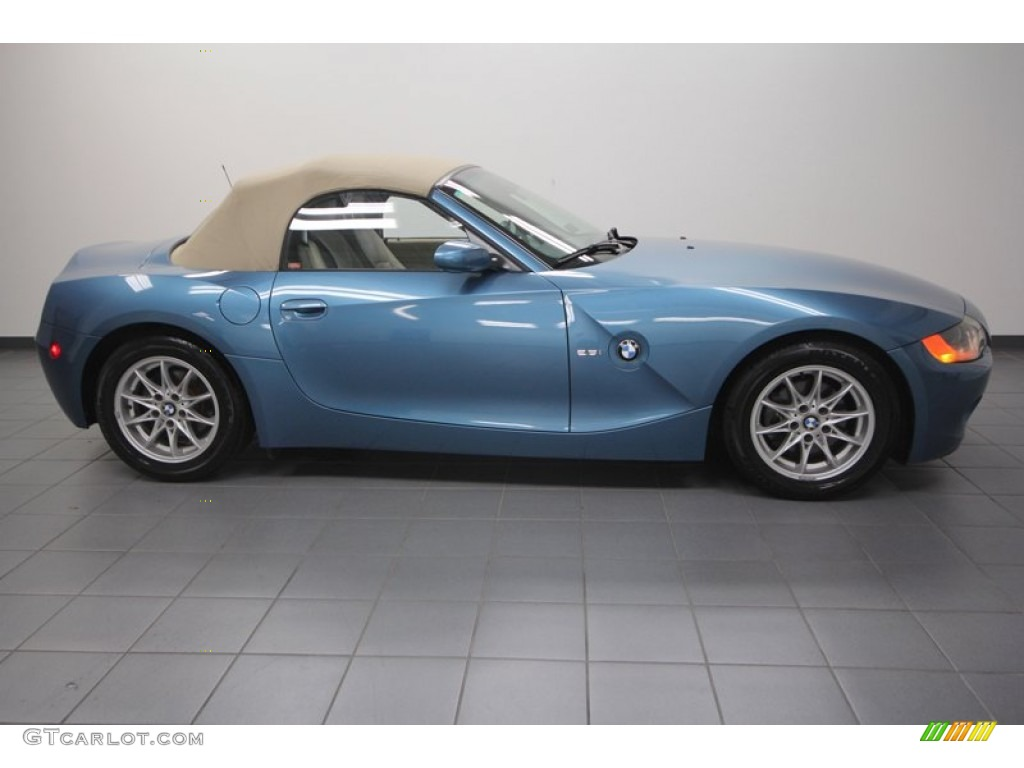 Maldives Blue Metallic 2004 Bmw Z4 2 5i Roadster Exterior