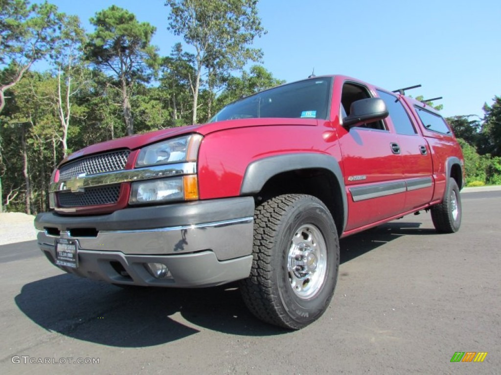2005 Silverado 1500 LS Crew Cab 4x4 - Victory Red / Dark Charcoal photo #1