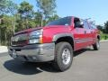 2005 Victory Red Chevrolet Silverado 1500 LS Crew Cab 4x4  photo #1