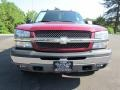 2005 Victory Red Chevrolet Silverado 1500 LS Crew Cab 4x4  photo #2