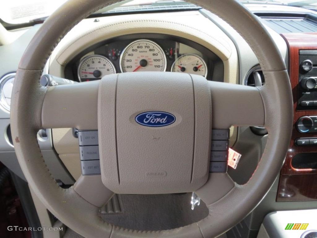 2006 Ford F150 Lariat SuperCrew Tan Steering Wheel Photo ...