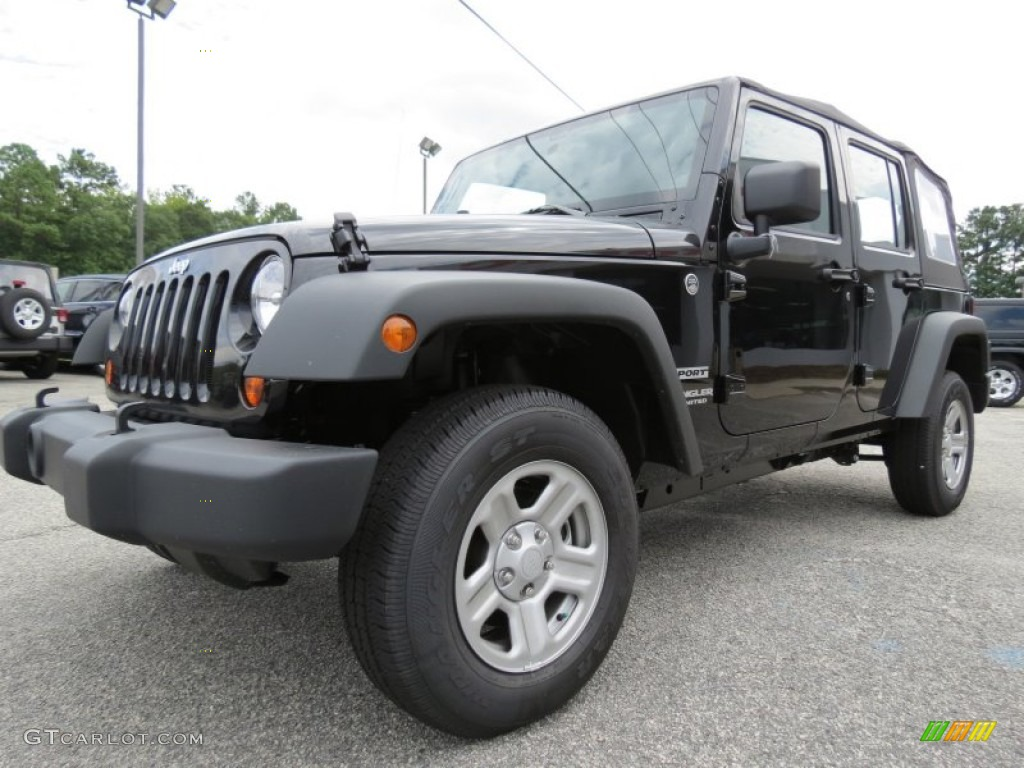 Black 2012 Jeep Wrangler Unlimited Sport 4x4 Exterior Photo 70758566