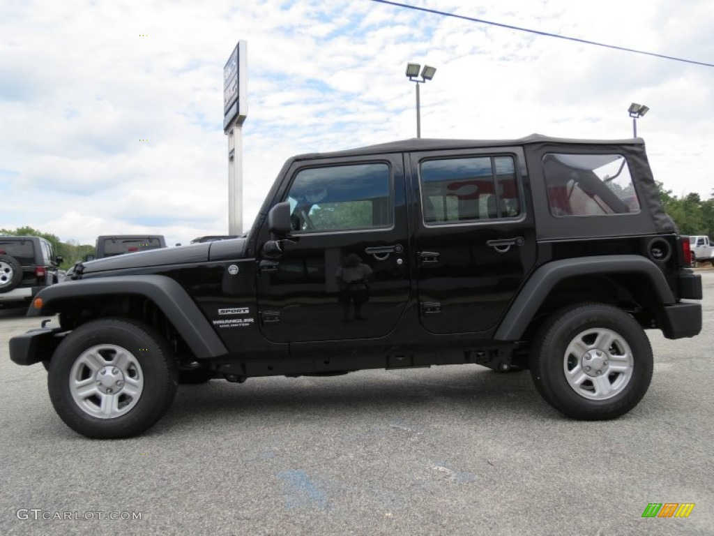 Black 2012 Jeep Wrangler Unlimited Sport 4x4 Exterior Photo 70758575