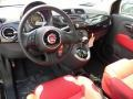 Pelle Rosso/Nera (Red/Black) 2012 Fiat 500 Interiors