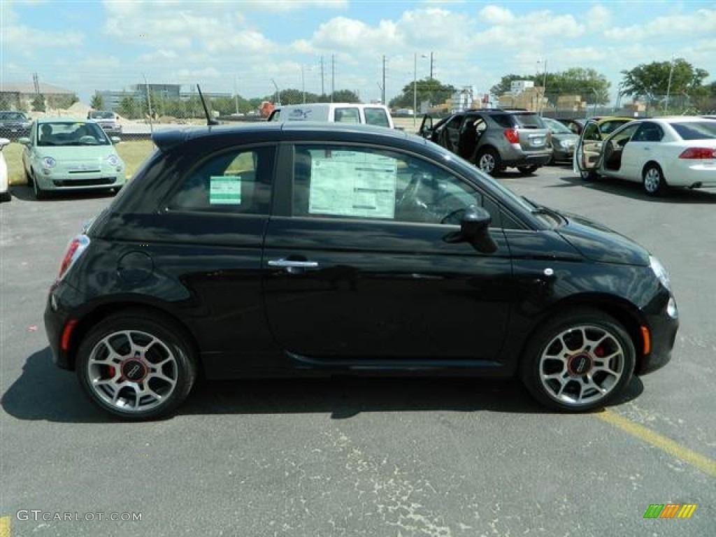 Nero Black 2012 Fiat 500 Sport Exterior Photo 70766860
