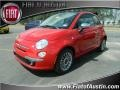 Rosso (Red) 2012 Fiat 500 c cabrio Lounge