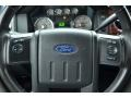2009 Ford F250 Super Duty Ebony Leather Interior Steering Wheel Photo