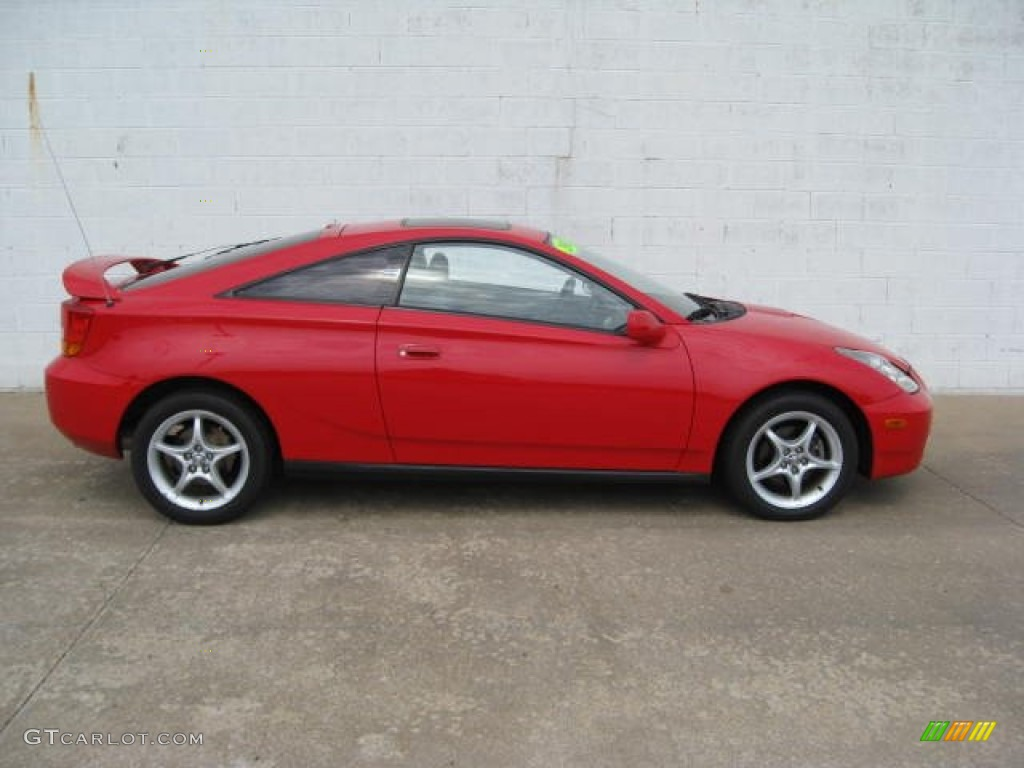 absolutely red 2001 toyota celica gt s exterior photo. Black Bedroom Furniture Sets. Home Design Ideas