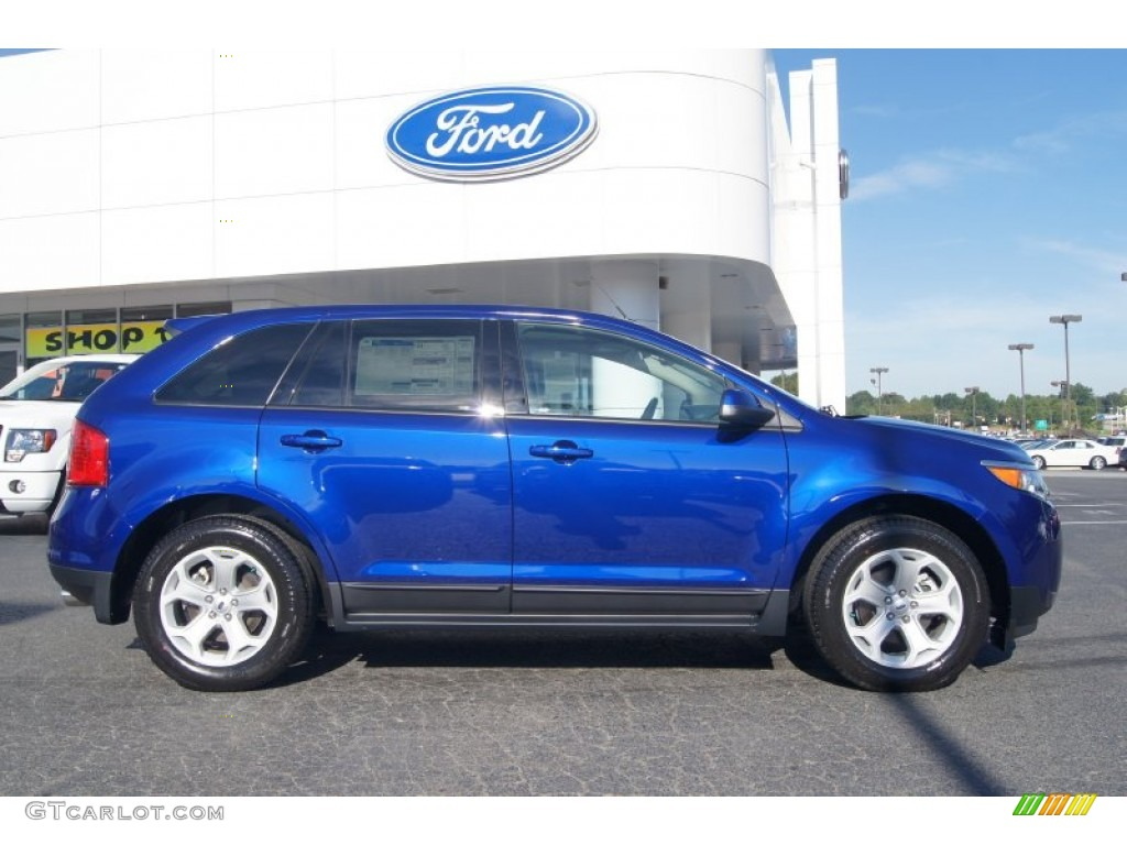 Deep impact blue metallic 2013 ford edge sel ecoboost exterior photo 70780599 ginger ale