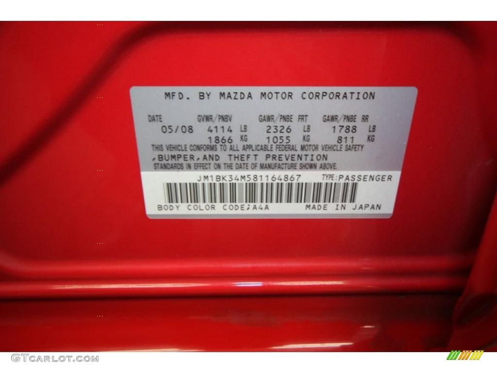 2008 Mazda MAZDA3 MAZDASPEED Grand Touring Color Code ...2015 Mazda 3 White Paint Scrape Repair