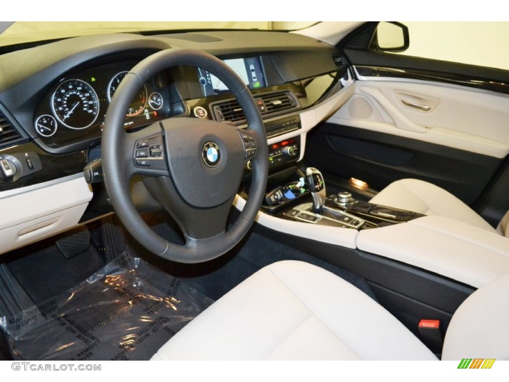 Oyster Black Interior 2012 BMW 5 Series 528i Sedan Photo 70808539