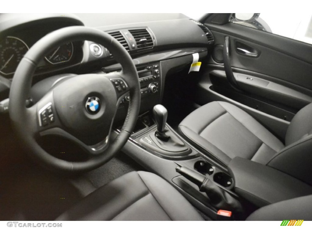 black interior 2013 bmw 1 series 128i coupe photo #70808807