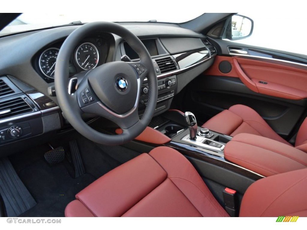 Vermillion Red Interior 2013 Bmw X6 Xdrive35i Photo