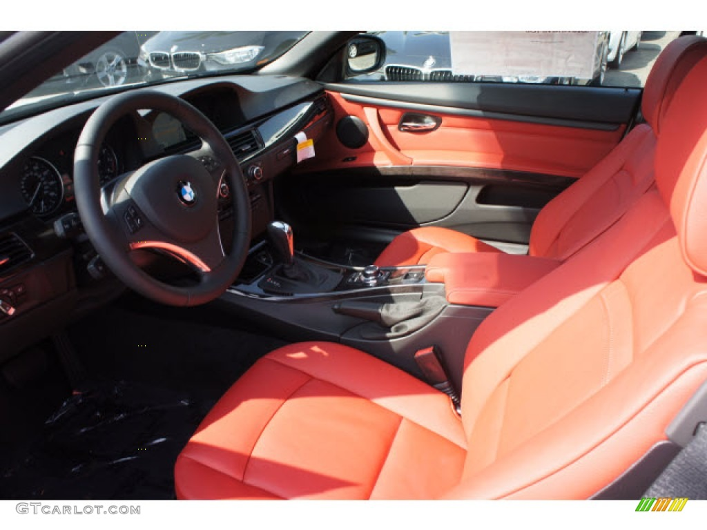 Coral Red Black Interior 2013 Bmw 3 Series 335i Convertible Photo 70815044