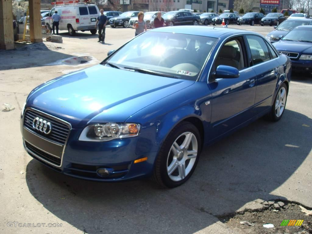 2007 ocean blue pearl effect audi a4 2 0t quattro sedan 7065939 car color. Black Bedroom Furniture Sets. Home Design Ideas
