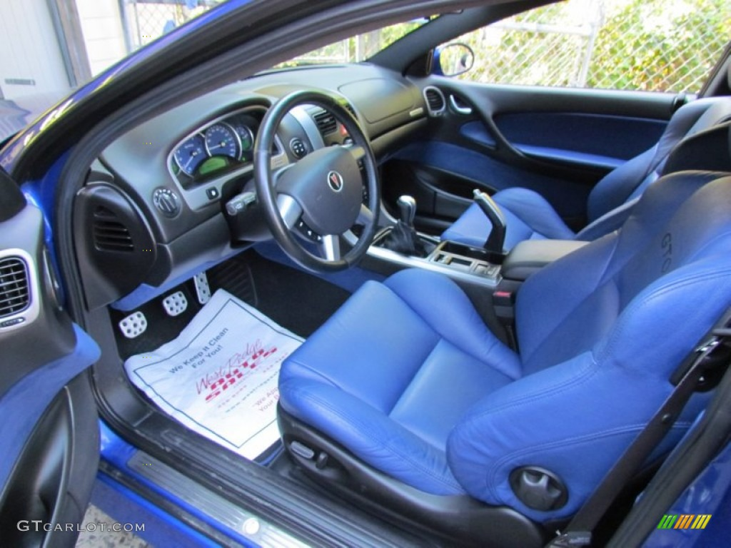 Blue Interior 2005 Pontiac GTO Coupe Photo #70833195