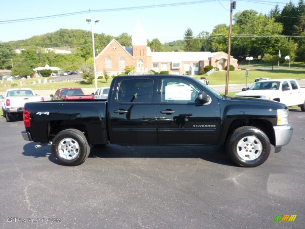 2013 Silverado 1500 LT Crew Cab 4x4 - Black / Ebony photo #8