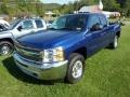 2013 Blue Topaz Metallic Chevrolet Silverado 1500 LT Extended Cab 4x4  photo #3