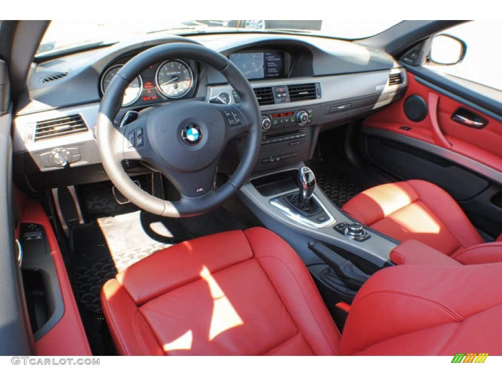 Coral Red Black Dakota Leather Interior 2011 Bmw 3 Series 335is Coupe Photo 70838616