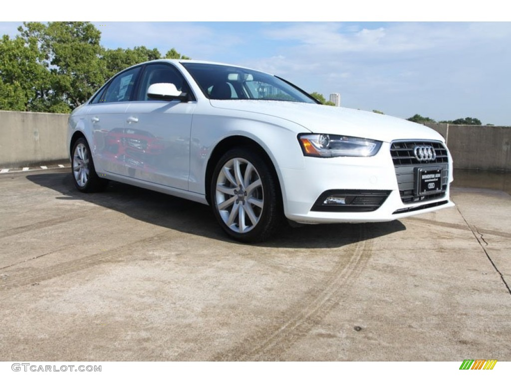 Glacier white metallic audi a4 audi a4 2 0t sedan