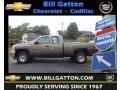 2013 Mocha Steel Metallic Chevrolet Silverado 1500 Work Truck Extended Cab  photo #1