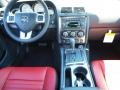 2012 Dodge Challenger Dark Slate Gray/Radar Red Interior Dashboard Photo