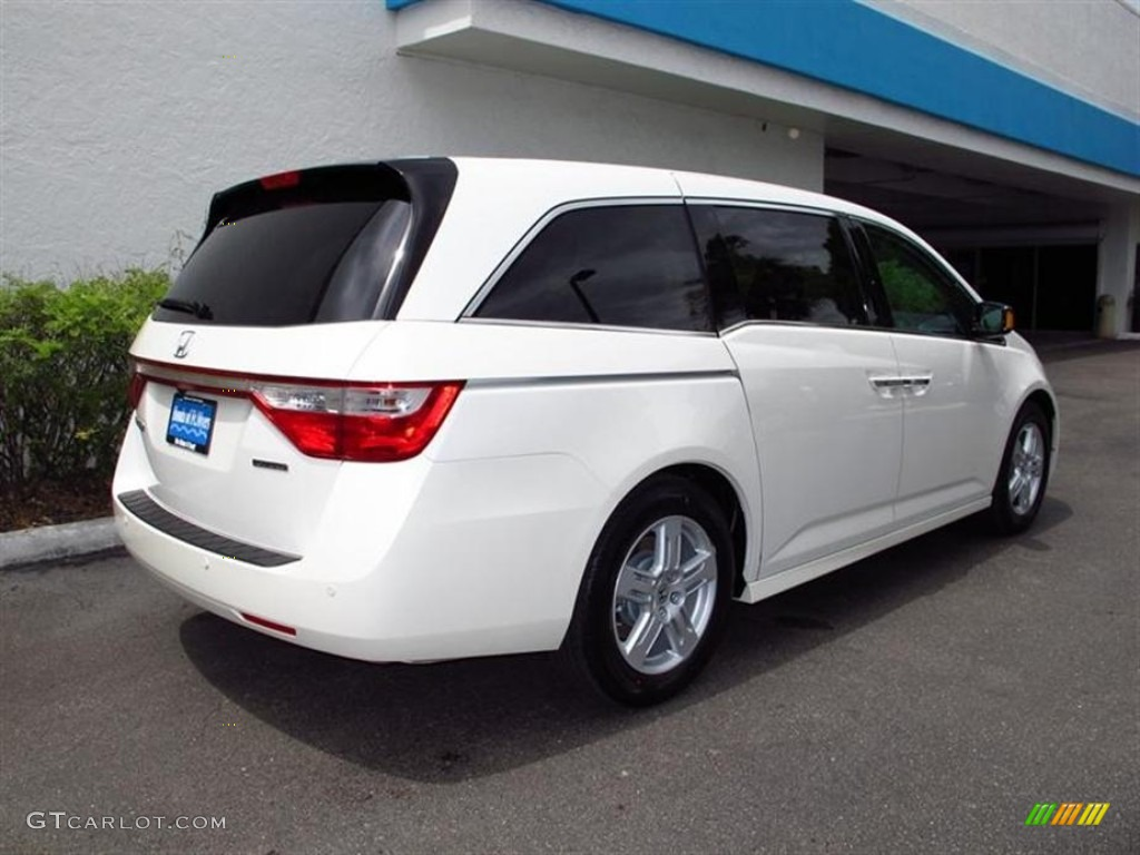 2012 white diamond pearl honda odyssey touring elite 70818171 photo 3 car. Black Bedroom Furniture Sets. Home Design Ideas