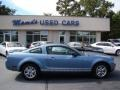 2007 Windveil Blue Metallic Ford Mustang V6 Deluxe Coupe  photo #1