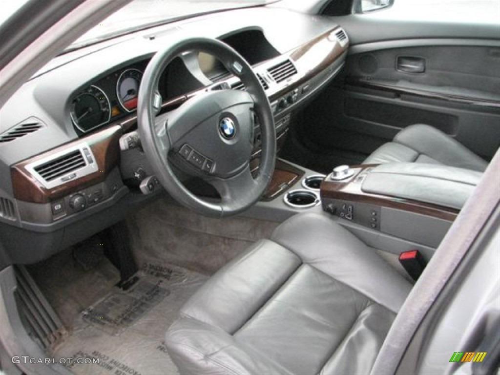 Basalt Grey Flannel Interior 2003 BMW 7 Series 745Li Sedan Photo 70870888